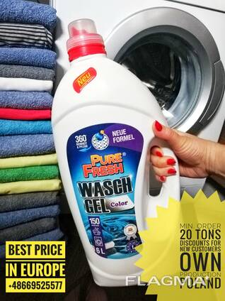 Gel Laundry Detergent Pure Fresh, own production, wholesal