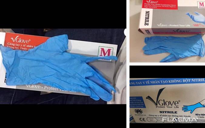 Нитриловые перчатки, антиаллергенные,